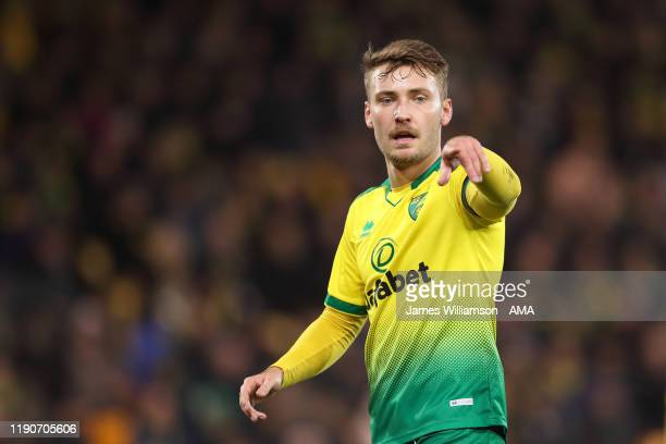 Tom Trybull of Norwich City during the Premier League match between Norwich City and Tottenham Hotspur at Carrow Road on December 28, 2019 in...