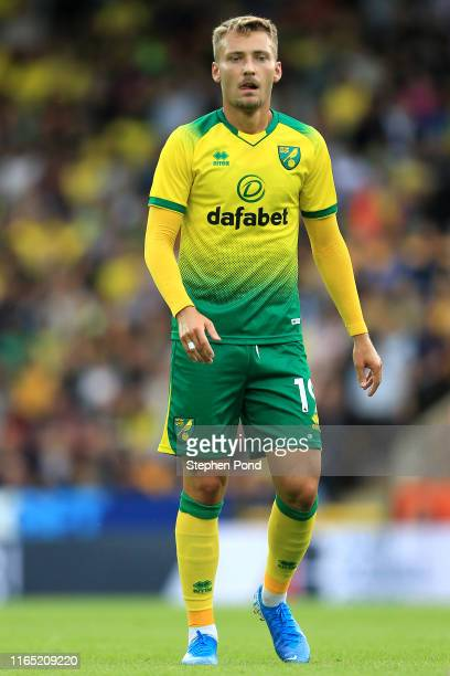 Tom Trybull of Norwich City during the pre-season Friendly match between Norwich City and Atalanta at Carrow Road on July 30, 2019 in Norwich,...