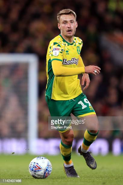 Tom Trybull of Norwich City during the Sky Bet Championship match between Norwich City and Reading at Carrow Road on April 10, 2019 in Norwich,...