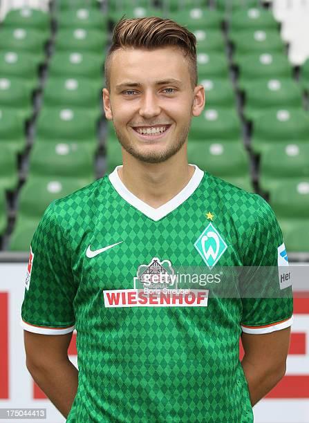 Tom Trybull of Werder Bremen poses during the Werder Bremen team presentation at Weser stadium on July 29, 2013 in Bremen, Germany.
