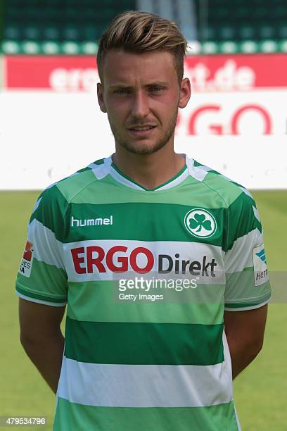 Tom Trybull poses during the Greuther Fuerth team presentation at Stadion am Laubenweg on July 3, 2015 in Fuerth, Germany.