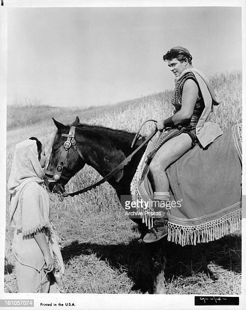 Tom Tryon on horseback in a scene from the film 'The Story Of Ruth' 1960