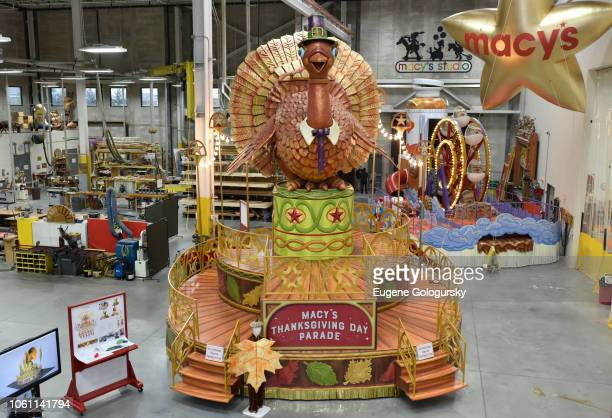Tom Turkey is seen as Macy's debuts new floats for the 2018 Macy's Thanksgiving Day Parade on November 13 2018 in Moonachie New Jersey Tom Turkey the...