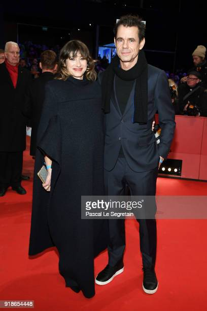 Tom Tykwer and his girlfriend Marie Steinbach attend the Opening Ceremony 'Isle of Dogs' premiere during the 68th Berlinale International Film...