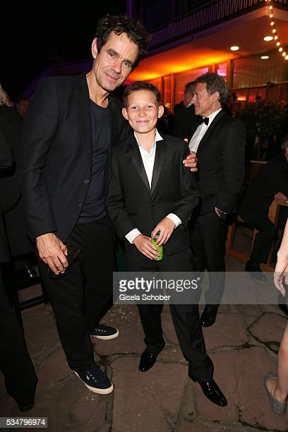Tom Tykwer and Ivo Pietzcker during the Lola German Film Award 2016 after show party at Palais am Funkturm on May 27 2016 in Berlin Germany