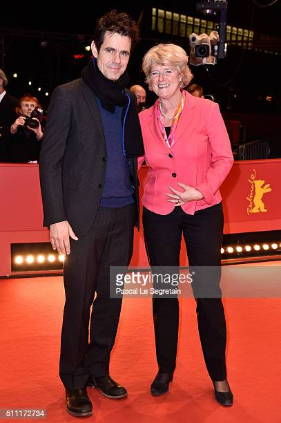 Tom Tykwer and Monika Gruetters attend the 'Hommage For Michael Ballhaus' during the 66th Berlinale International Film Festival Berlin at Berlinale...