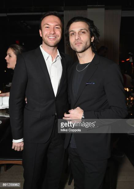 Tom van Dorpe and Alexander DiPersia attend the CR Fashion Book Celebrating launch of CR Girls 2018 with Technogym at Spring Place on December 12...