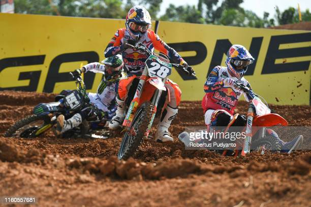 Tom Vialle of France and Red Bull KTM Factory Racing in action during the MX2 final race 2 of the FIM Motocross World Championship Indonesia MXGP at...