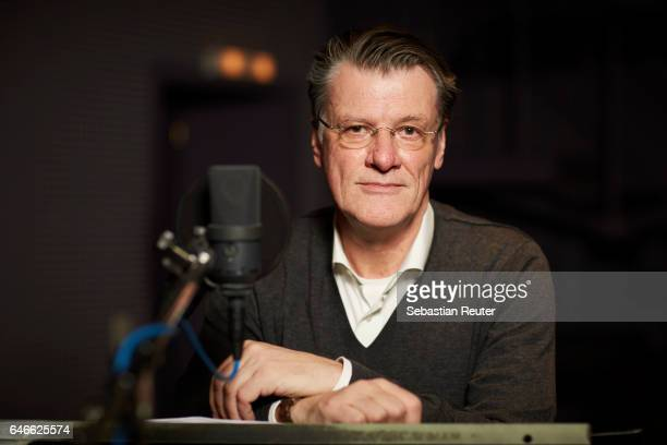Tom Vogt is seen at the dubbing studio for the new HISTORY drama series 'Roots' on February 14 2017 in Berlin Germany