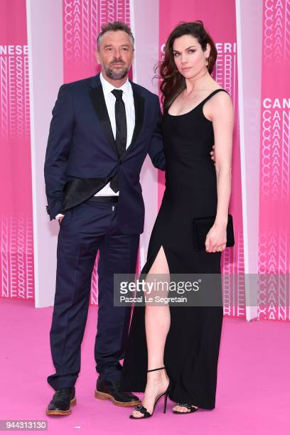 Tom Waes and Anna Drijver from the serie Undercover attend Miguel and Undercover screening during the 1st Cannes International Series Festival at...