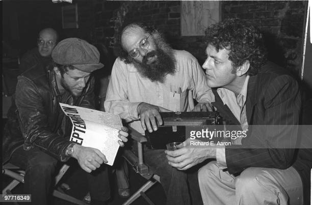 Tom Waits Allen Ginsberg and David Blue talk in a New York bar in 1975