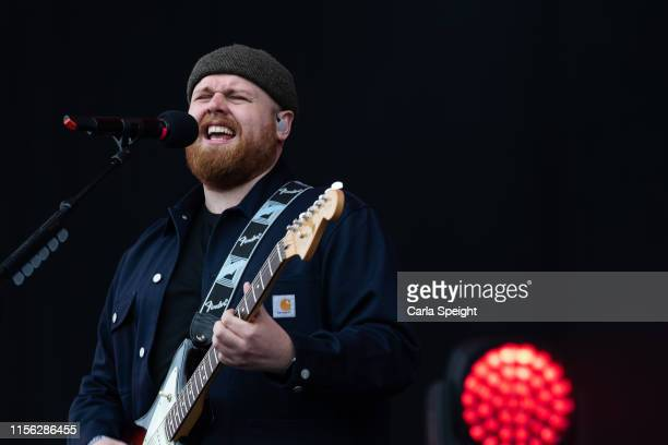 Tom Waler performs on main stage during Isle of Wight Festival 2019 at Seaclose Park on June 16 2019 in Newport Isle of Wight
