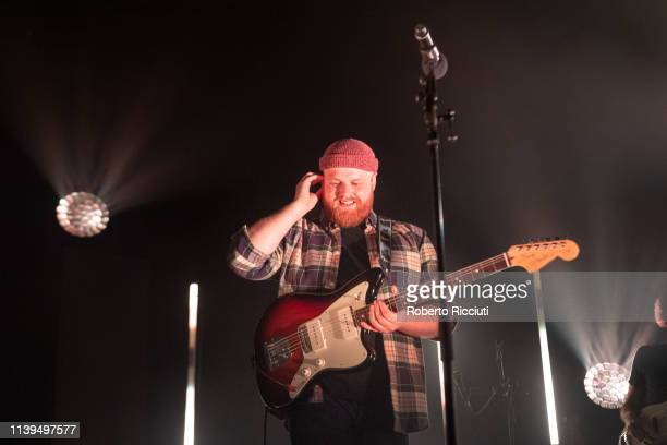 Tom Walker performs on stage at Barrowland Ballroom on April 26 2019 in Glasgow Scotland