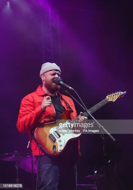 Tom Walker performs on stage on day two of the brand new Rize Festival in Hylands Park, Chelmsford, Essex.