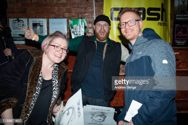 Tom Walker poses for selfies and signs his debut album What A Time To Be Alive with fans at The Wardrobe on March 04 2019 in Leeds England