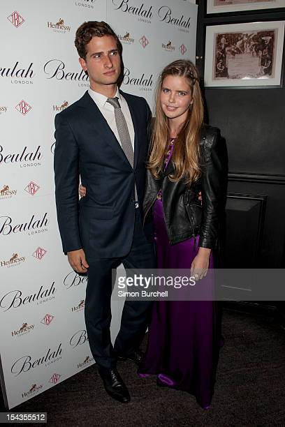 Tom Warren & Katie Redman attends the Beulah London and Hennessy Gold Cup launch party at The Brompton Club on October 18, 2012 in London, England.