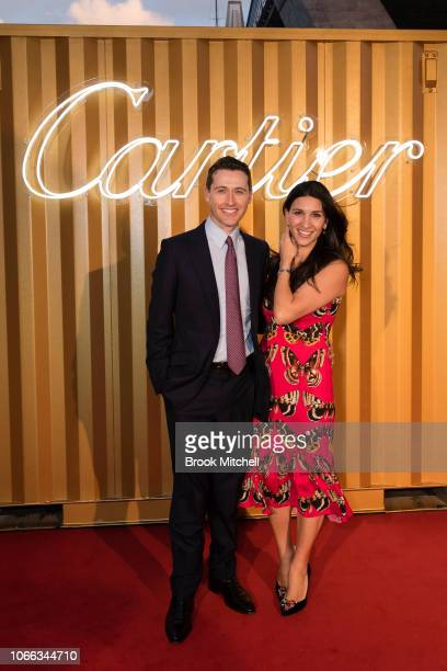 Tom Waterhouse and Hoda Vakili attend the Cartier Precious Garage Party on November 29 2018 in Sydney Australia