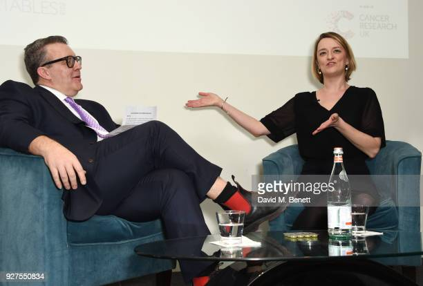 Tom Watson Deputy Leader of the Labour Party and Laura Kuenssberg attend Turn The Tables 2018 hosted by Tania Bryer and James Landale in aid of...