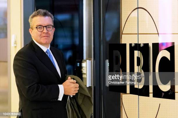 Tom Watson Deputy Leader of the Labour Party arrives at BBC Birmingham ahead of an appearance on the Andrew Marr Show on September 30 2018 in...