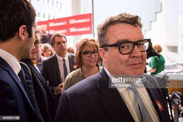Tom Watson Deputy Leader of the Labour Party walks off stage at a Labour In for Britain event at the TUC Congress Hall on June 14 2016 in London...