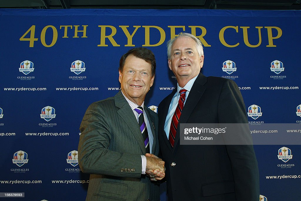 2014 U.S. Ryder Cup Captains News Conference : News Photo