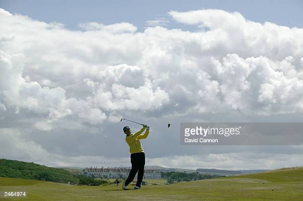 Tom Watson of the USA in action during the final round of the Senior British Open presented by Mastercard held on July 27, 2003 on the Ailsa Course...