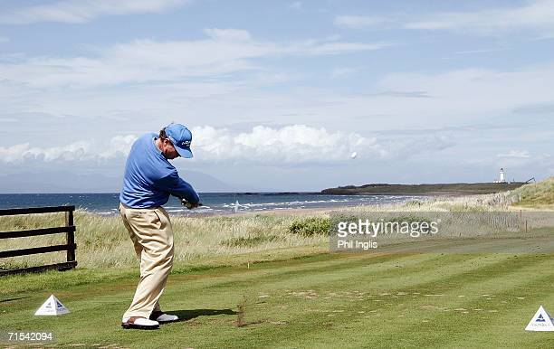 Tom Watson of the USA in action during the final round of The Senior British Open 2006 at The Westin Turnberry Resort on July 30 2006 in Turnberry...