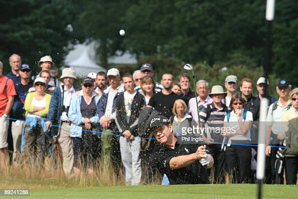Tom Watson of US in action during the second round of The Senior Open Championship presented by MasterCard held on the Old Course Sunningdale Golf...