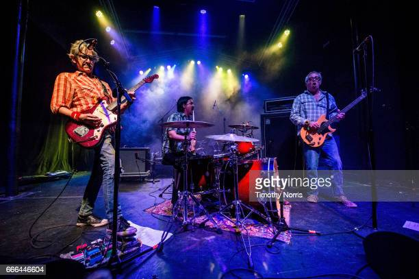 Tom Watson Raul Morales and Mike Watt of Mike Watt and The Missingmen perform during When We Were Young Festival 2017 at The Observatory on April 8...