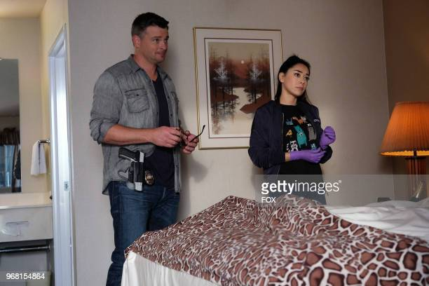 Tom Welling and Aimee Garcia in the The Last Heartbreak episode of LUCIFER airing Monday March 19 on FOX Photo by FOX via Getty Images