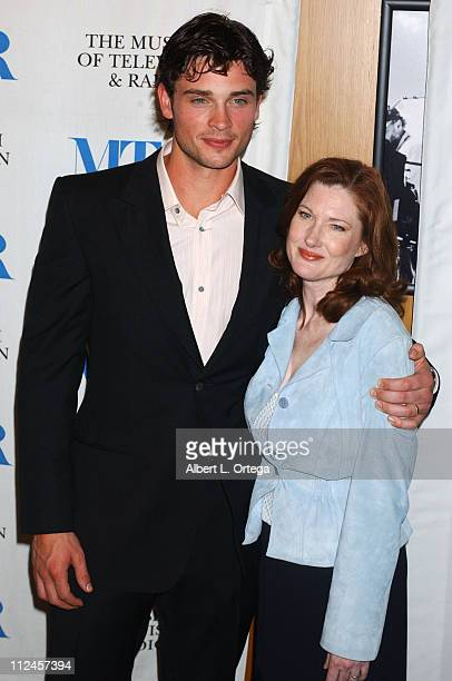 Tom Welling and Annette O'Toole during The Museum of Television Radio's 21st Annual William S Paley Television Festival Presentation Of Smallville at...