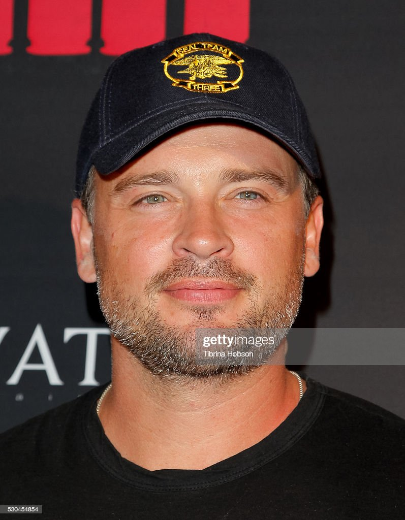 Tom Welling attends the launch of '6 Bullets To Hell' on May 10, 2016 in Los Angeles, California.