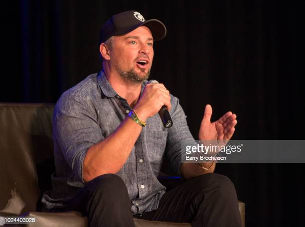Tom Welling during the 'Back to Smallville' panel at the Wizard World Chicago ComicCon at Donald E Stephens Convention Center on August 26 2018 in...