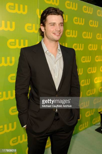 Tom Welling during The CW Launch Party Green Carpet at WB Main Lot in Burbank California United States