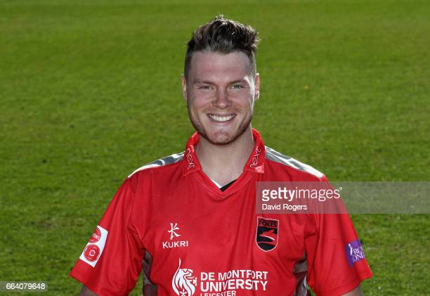 Tom Wells poses in the Leicestershire Foxes Royal London OneDay Cup kit during the Leicestershire County Cricket photocall held at Grace Road on...