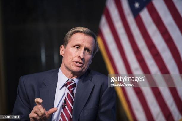 Tom Werner SunPower president and chief executive officer makes a speech the 2018 Columbia Global Energy Summit regarding the evaluations of the US'...