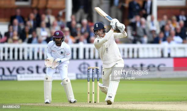Tom Westley of England bats during day three of the 3rd Investec Test match between England and the West Indies at Lord's Cricket Ground on September...