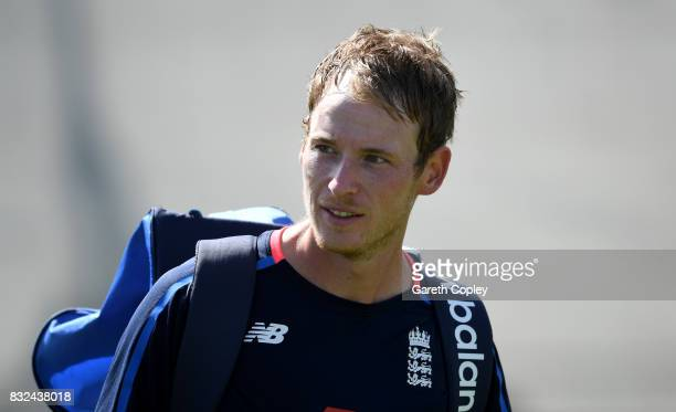 Tom Westley of England during a nets session at Edgbaston on August 16 2017 in Birmingham England