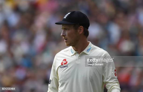 Tom Westley of England during day three of the 3rd Investec Test match between England and South Africa at at The Kia Oval on July 29 2017 in London...