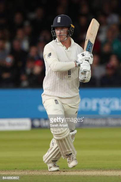 Tom Westley of England hits out during day three of the 3rd Investec Test match between England and West Indies at Lord's Cricket Ground on September...