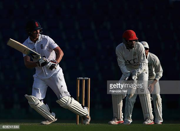 Tom Westley of England Lions bats during day one of the tour match between England Lions and Afghanistan at Zayed Cricket Stadium on December 7 2016...