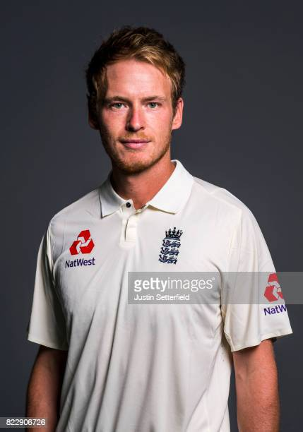 Tom Westley of England poses for a portrait at The Kia Oval on July 25 2017 in London England