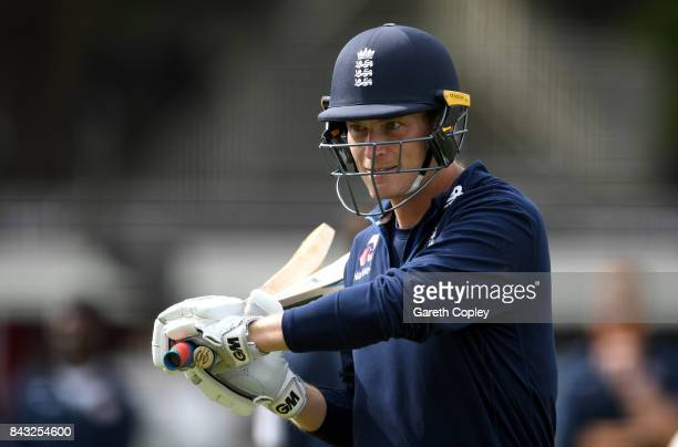 Tom Westley of England waits to bat during a nets session at Lord's Cricket Ground on September 6 2017 in London England