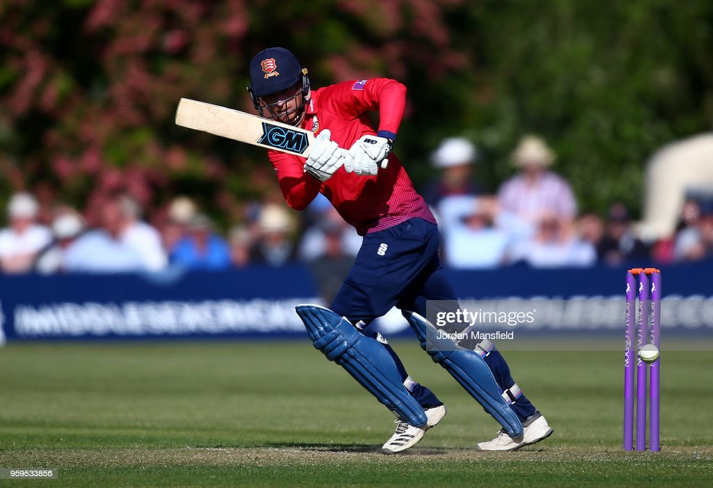 Tom Westley of Essex bats during the Royal London One-Day Cup match between Middlesex and Essex at Radlett Cricket Club on May 17, 2018 in Radlett, England.