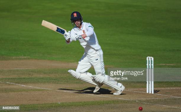 Tom Westley of Essex batting during the County Championship Division One match between Warwickshire and Essex at Edgbaston on September 13 2017 in...