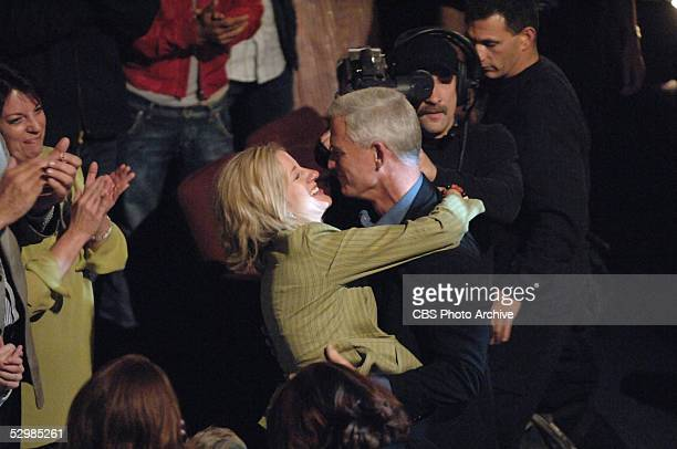 Tom Westman a fireman from Brooklyn Nwe York celebrates with his wife Bernadette after learning that he won the television show SURVIVOR PALAU during...