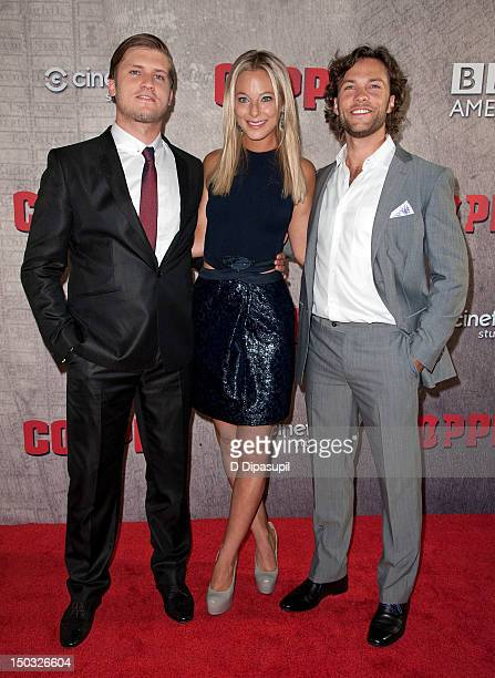 Tom WestonJones Anastasia Griffith and Kyle Schmid attend the 'Copper' premiere at The Museum of Modern Art on August 15 2012 in New York City