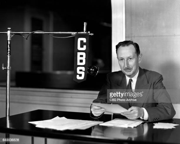"""Tom Williams provides gardening tips as """"The Old Dirt Dobber"""" over CBS Radio broadcasts. Image dated July 3, 1940. Nashville, Tennessee."""