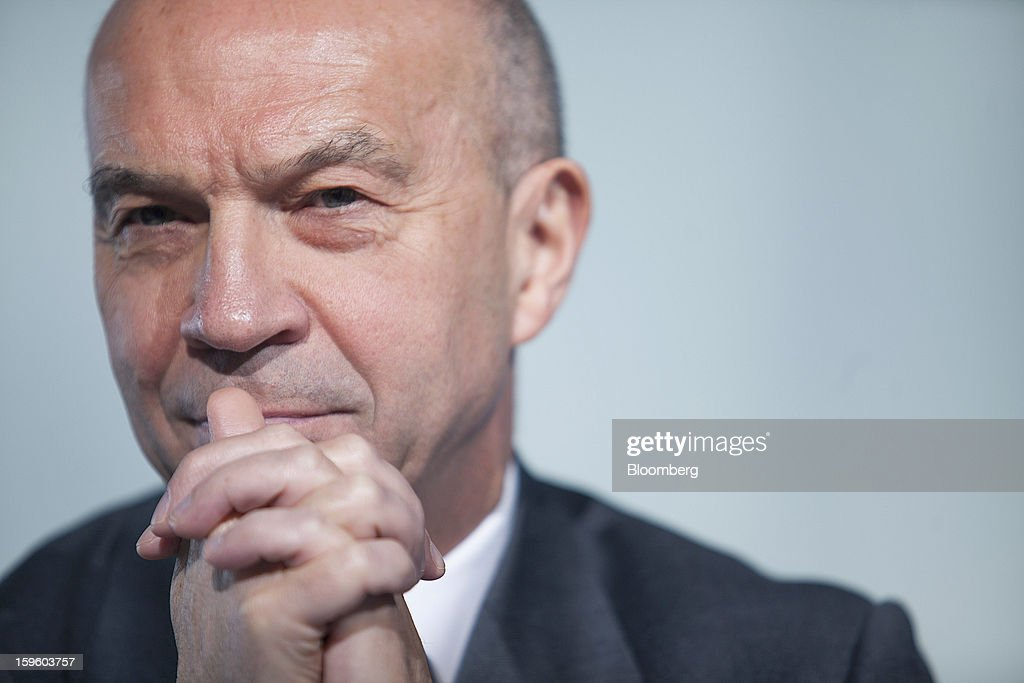 Tom Williams, vice president of programs for Airbus SAS, pauses during a news conference in Colomiers, France, on Thursday, Jan. 17, 2013. Airbus SAS Chief Executive Officer Fabrice Bregier said he's sticking with a goal of flying the A350 jet mid-year and that it represents 'a lower risk approach' than the Boeing Co. 787 grounded by U.S. regulators yesterday. Photographer: Balint Porneczi/Bloomberg via Getty Images