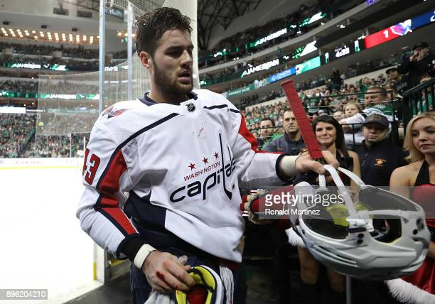 Tom Wilson of the Washington Capitals in the first period at American Airlines Center on December 19 2017 in Dallas Texas